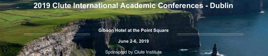 2019 Clute International Academic Conferences Dublin (Cliffs of Moher)