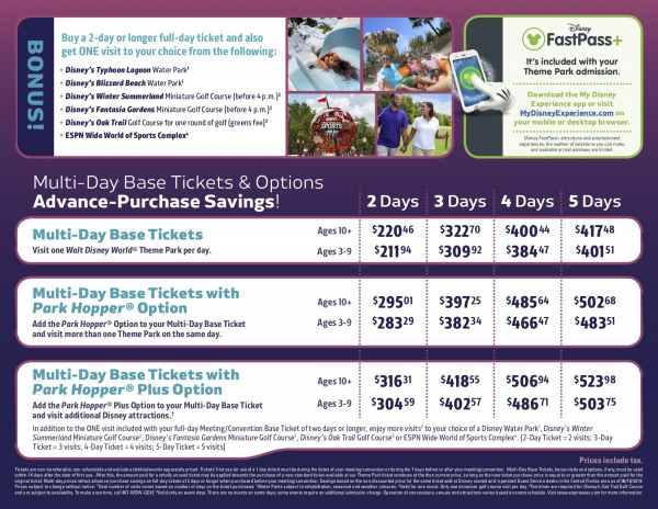 Discounted Disney Theme Park Tickets